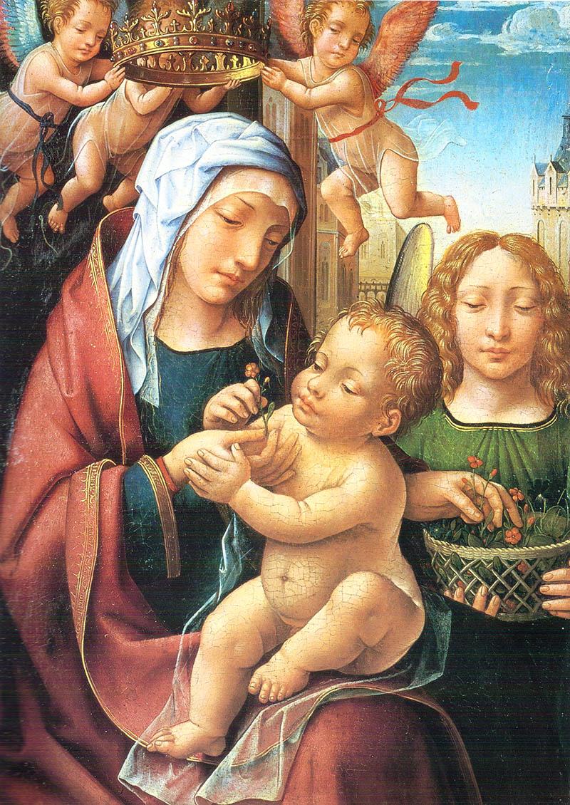 Virgen con Niño y Ángeles Cornelys Van Cleve