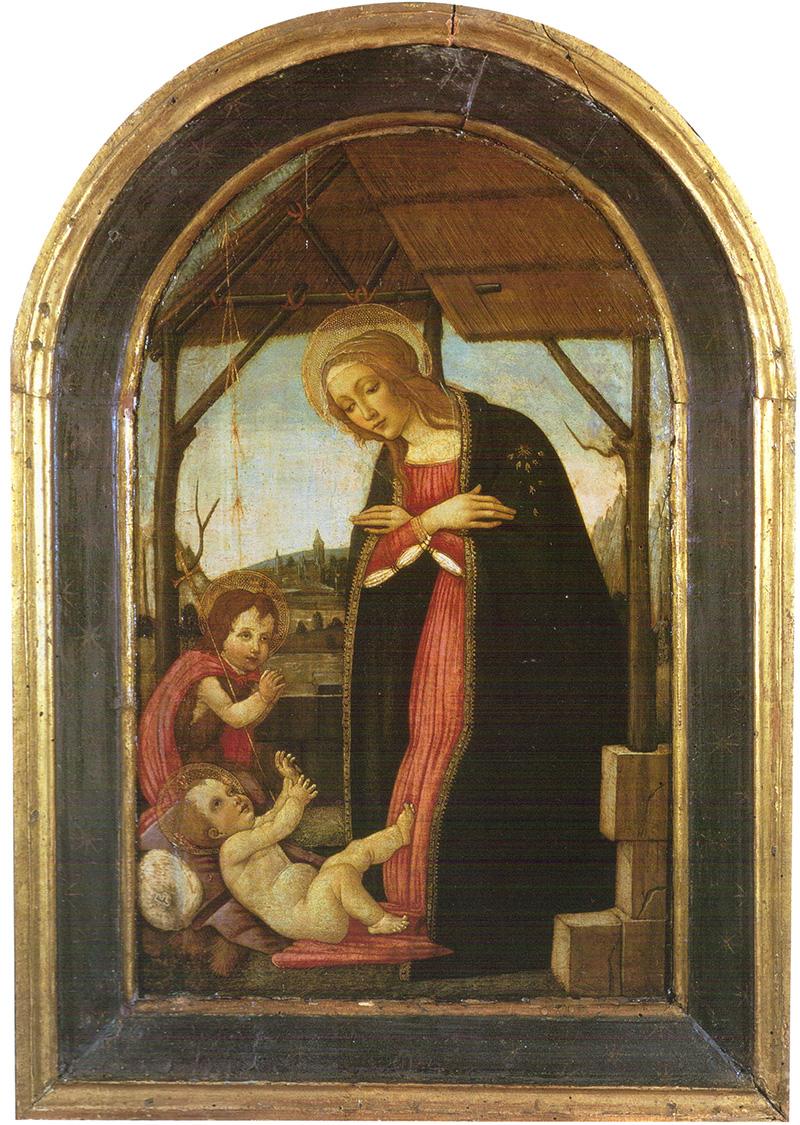 Virgen y San Juan adorando al Niño Jesús