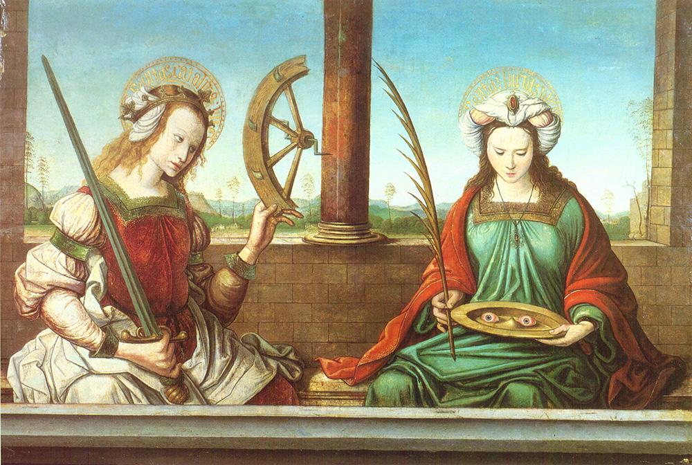 Santa Catalina y Santa Lucía Maestro de Astorga
