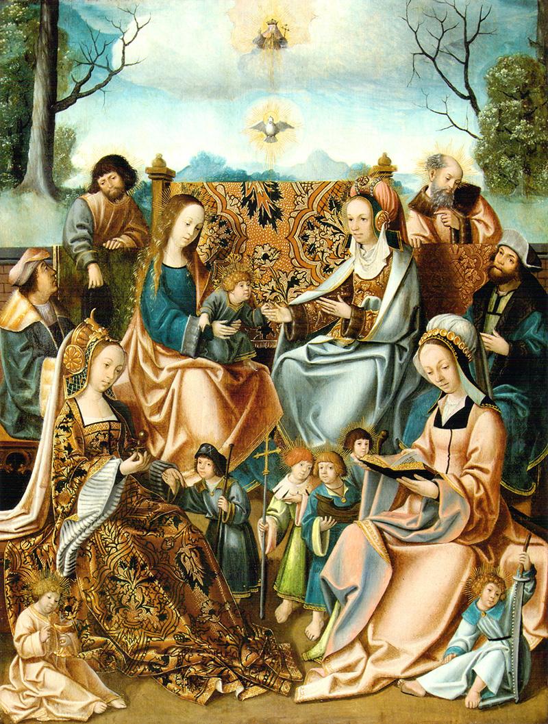 La familia de la Virgen Bruselas 1510 - 1520
