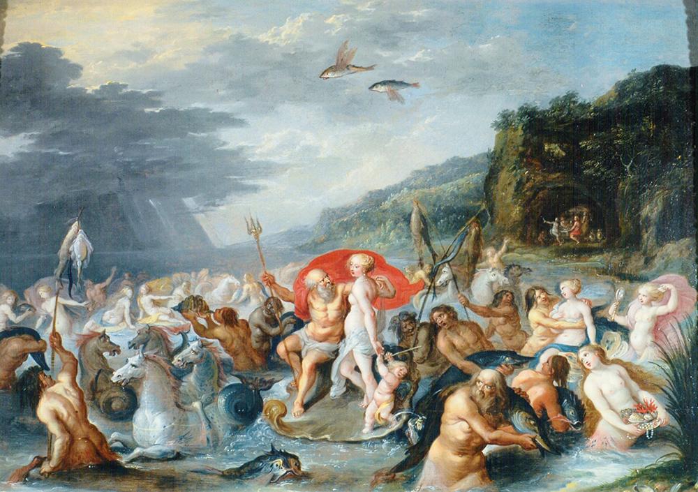 Neptuno y Anfitrite Frans Francken II y Hieronymus Francken III