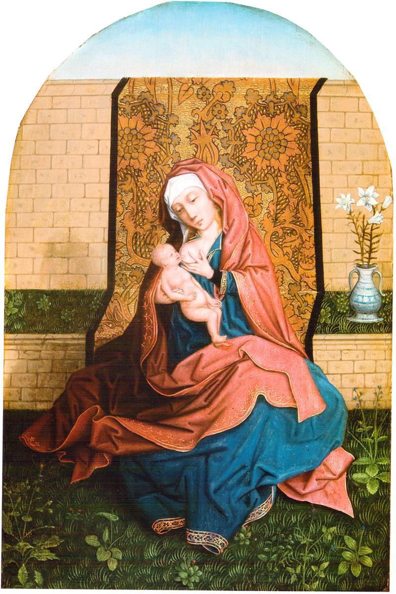 Virgen con Niño Maestro del Follage Bordado (Grupo)