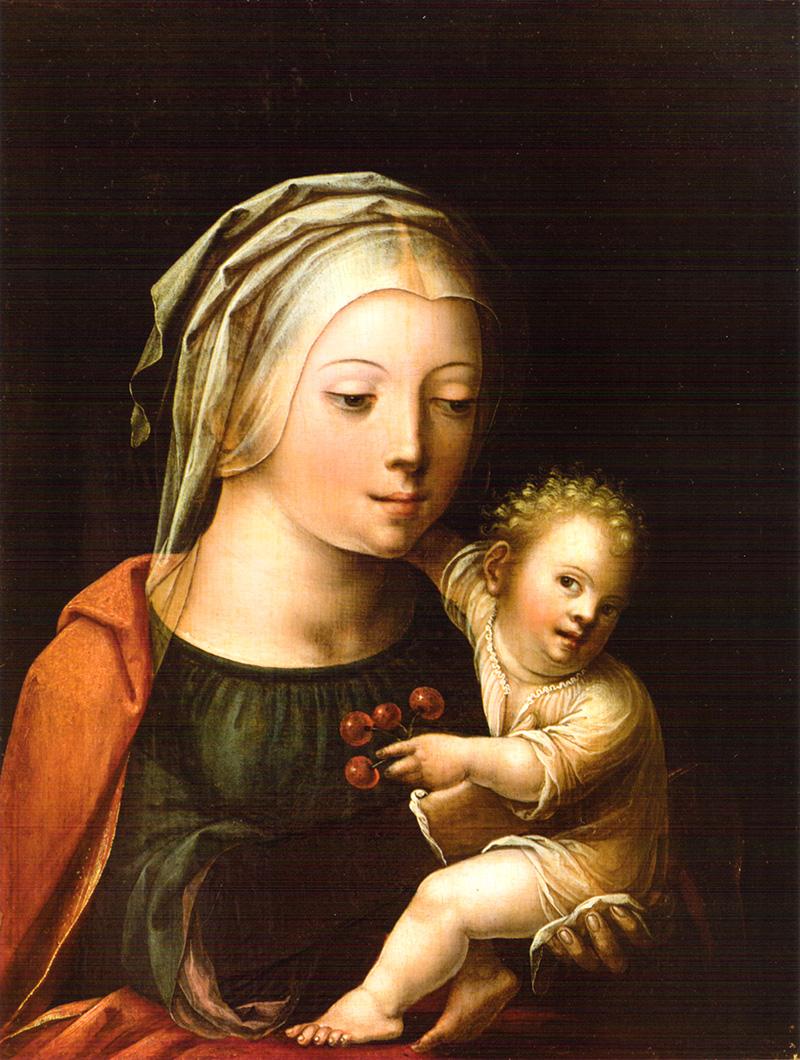 Virgen con Niño Maestro del Papagayo