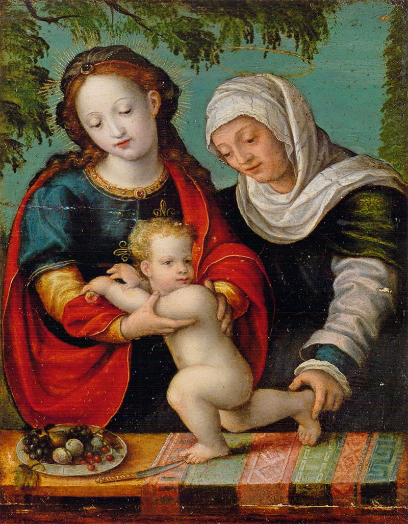 Santa Ana, la Virgen y el Niño Cornelis van Cleve. Cornelis van de Beke (Sotte Cleve)